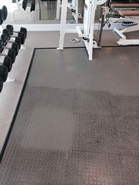 Gym Flooring Before Treatment Fort Lauderdale