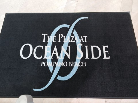 logo floor mats for oceanside of pompano , fl